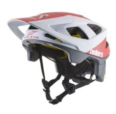 Kask rowerowy ALPINESTARS VECTOR TECH - POLAR HELMET - CE EN kolor biały/czerwony/matowy