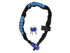 Zabezpieczenie antykradzieżowe OXFORD HERCULES kolor czarny/niebieski 6mm x 90cm