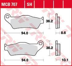 Klocki hamulcowe tył, przeznaczenie: droga/wyścigi, materiał: sinter-SH, 36,2x94x8,6mm BMW G, HP2, K, R; MOTO GUZZI CALIFORNIA 450-1300 1993-
