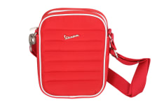 Mała torba nylonowa pikowana Vespa czerwona