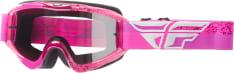 Gogle motocyklowe Off-road FLY RACING ZONE kolor różowy, rozmiar OS