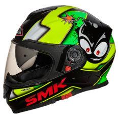 Kask integralny SMK TWISTER CARTOON GL241 kolor czarny/fluorescencyjny/zielony/żółty