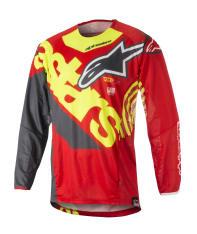 Koszulka off road ALPINESTARS MX TECHSTAR VENOM kolor czerwony/fluorescencyjny/szary/żółty