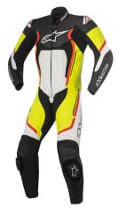 Kombinezon jednoczęściowy MOTEGI V2 ALPINESTARS kolor biały/czarny/czerwony/fluorescencyjny/żółty