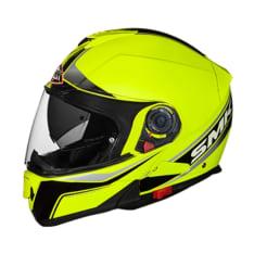 Kask szczękowy SMK GLIDE FLASH VISION HV420 kolor czarny/fluorescencyjny/żółty