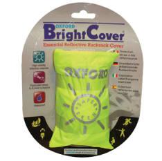 pokrowiec na plecak wykonany z wodoodpornego materiału w, kolorze zółtym fluorescencyjnym