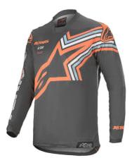 Koszulka off road ALPINESTARS MX RACER BRAAP kolor fluorescencyjny/pomarańczowy/szary