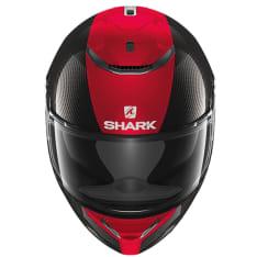 Kask integralny SHARK SPARTAN CARBON SKIN kolor czarny/czerwony