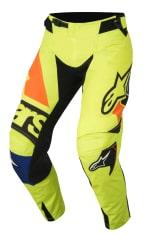 Spodnie cross/enduro ALPINESTARS MX TECHSTAR FACTORY kolor czarny/fluorescencyjny/niebieski/pomarańczowy/żółty