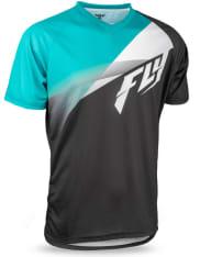 Koszulka rowerowa FLY SUPER D kolor biały/czarny/niebieski