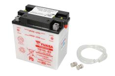 Akumulator Kwasowy/Obsługowy/Rozruchowy YUASA 12V 11Ah 120A P+ odpowietrzenie z prawej 135x90x145 Suchoładowany bez elektrolitu HONDA CH; PIAGGIO/VESPA BEVERLY; SUZUKI DR, GS, GSX 150-650 1983-