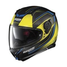 Kask integralny NOLAN N87 SAVOIR FAIRE N-COM 58 kolor czarny/niebieski/żółty