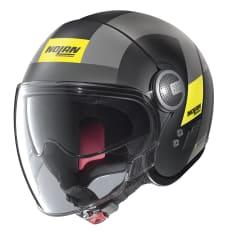 Kask otwarty NOLAN N21 VISOR SPHEROID 49 kolor czarny/matowy/szary/żółty