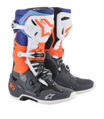 Buty cross/enduro TECH 10 ALPINESTARS MX kolor biały/fluorescencyjny/niebieski/pomarańczowy/szary
