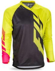 Koszulka rowerowa FLY RADIUM kolor czarny/różowy/żółty