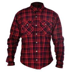 Koszula KICKBACK OXFORD kolor czerwony/czarny