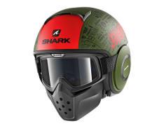 Kask otwarty SHARK DRAK TRIBUTE RM kolor czarny/czerwony/matowy/zielony