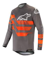 Koszulka off road ALPINESTARS MX RACER FLAGSHIP kolor czarny/fluorescencyjny/pomarańczowy/szary