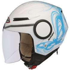 Kask otwarty SMK STREEM FANTASY GL150 kolor biały/niebieski