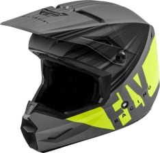 Kask cross/enduro FLY RACING KINETIC K220 ECE kolor czarny/fluorescencyjny/matowy/szary/żółty