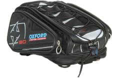 torba na tył motocykla X30 NEW pojemność 30L z paskami mocującymi kolor czarny zdjęcie poglądowe