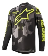 Koszulka off road ALPINESTARS MX YOUTH RACER TACTICAL kolor camo/czarny/fluorescencyjny/szary/żółty