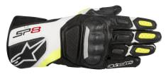 Rękawice sportowe ALPINESTARS SP-8 V2 GLOVES kolor biały/czarny/fluorescencyjny/żółty