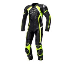 Kombinezon jednoczęściowy LOSAIL RACE SPYKE kolor biały/czarny/fluorescencyjny/żółty