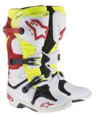 Buty cross/enduro TECH 10 NEW ALPINESTARS MX kolor biały/czerwony/fluorescencyjny/żółty