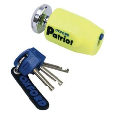 Blokada tarczy hamulcowej OXFORD PATRIOT kolor żółty pin 14mm