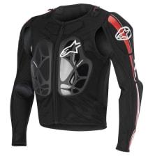Koszulka z ochraniaczami ALPINESTARS MX BIONIC PRO JACKET kolor biały/czarny/czerwony