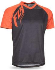Koszulka rowerowa FLY ACTION kolor czarny/pomarańczowy