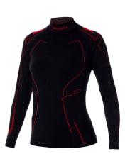 Bluzka termoaktywna BRUBECK COOLER kolor czarny/różowy