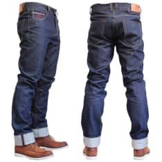 """Spodnie jeans FREESTAR CALIFORNIA SELVAGE (długość nogawki 34"""") kolor granatowy"""