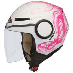 Kask otwarty SMK STREEM FANTASY GL190 kolor biały/różowy