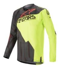 Koszulka off road ALPINESTARS MX TECHSTAR FACTORY kolor czarny/czerwony/fluorescencyjny/żółty
