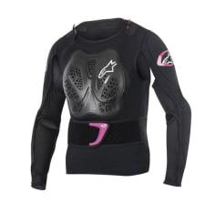 Koszulka z ochraniaczami ALPINESTARS MX STELLA BIONIC JACKET kolor czarny/fioletowy