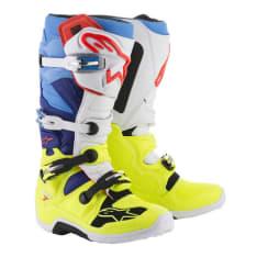 Buty cross/enduro TECH 7 ALPINESTARS MX kolor biały/fluorescencyjny/niebieski/żółty