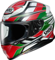 Kask integralny SHOEI NXR RUMPUS TC-4 kolor biały/czarny/czerwony/zielony