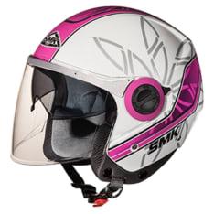 Kask otwarty SMK SWING ESSENCE GL192 kolor biały/różowy/srebrny