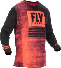 Koszulka off road FLY RACING KINETIC Noiz kolor czarny/czerwony