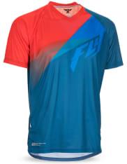 Koszulka rowerowa FLY SUPER D kolor czerwony/niebieski