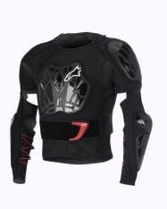 Koszulka z ochraniaczami ALPINESTARS MX BIONIC TECH JACKET kolor biały/czarny/czerwony