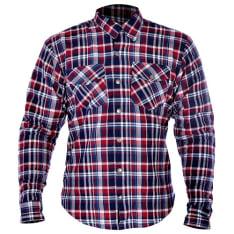 Koszula KICKBACK OXFORD kolor niebieski/czerwony