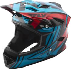 Kask rowerowy FLY DEFAULT kolor czerwony/niebieski