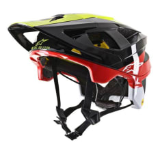 Kask rowerowy ALPINESTARS VECTOR TECH - PILOT HELMET - CE EN kolor czarny/czerwony/żółty