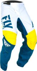 Spodnie cross/enduro FLY RACING F-16 kolor biały/niebieski/żółty