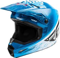 Kask cross/enduro FLY RACING KINETIC K120 ECE kolor biały/czerwony/niebieski