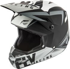 Kask cross/enduro FLY RACING Elite Vigilant VIGILANT kolor czarny/matowy/szary