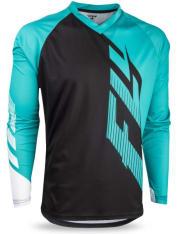 Koszulka rowerowa FLY RADIUM kolor biały/czarny/niebieski